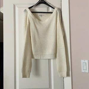 Missguided knit off the shoulder sweater